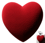 Cut-out stock PNG 74 - velvet heart Valentine day by Momotte2stocks