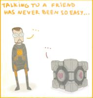 Portal+HL- talking to a friend by herman-the-handyman