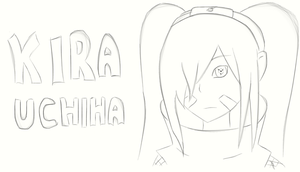 OC: Kira Uchiha sketch by muzza299
