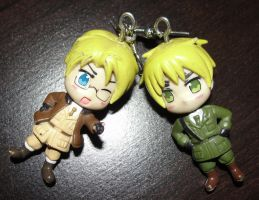 Hetalia USUK earrings by allykat