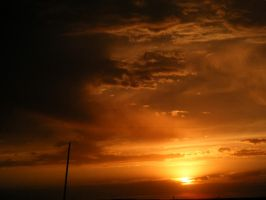 Stormy Sunset II by Peinbow