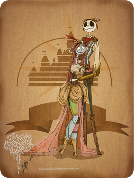 Disney steampunk: JackXSally by MecaniqueFairy