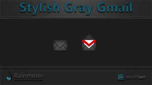 Stylish Gray Gmail + Sound + Voice Notification by WwGallery