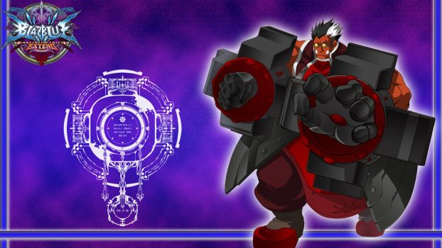 BlazBlue Title Card: Iron Tager by MrJechgo