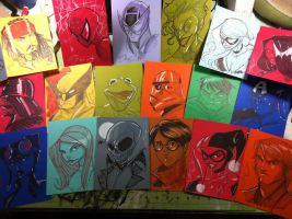 Ten Dollar Sketches ready for WonderCon by Hodges-Art