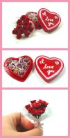 Valentine Roses and Chocolates by HanaClayWorks
