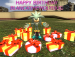 Happy B-day BlancatheWolfDog by kamiase