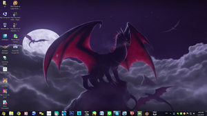 Another Dragon Desktop by PharaohAtisLioness