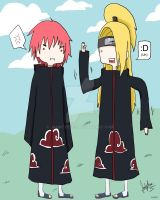 Sasori and Deidara AT Style by JauntyEyes
