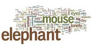 A Pachyderm Cliche Wordle by PlutoHasCows