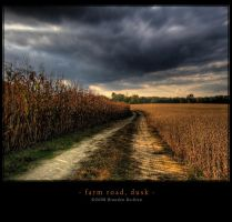 Farm Road - Dusk by BrandonRechten