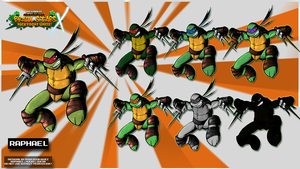 Nicktoons - Raphael (Palette Swaps) by NewEraOutlaw