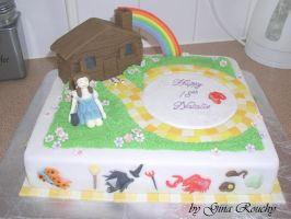 Fancy Dress Cake by ginas-cakes