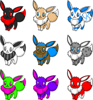 GONE Eevee Adopts by ImikoNeigeux