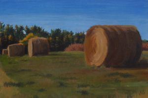 Hay Bales by Vineris