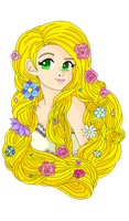 Flowers in her hair by Sailor-Serenity