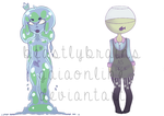 Slime Queen and Object Head Adoptables by BeastlyBrains