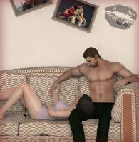 Chris And Ada in the Living room by Real-Ada