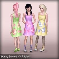 Sunny Summer - Dress for Teen-Adults by D3N1ZFTW