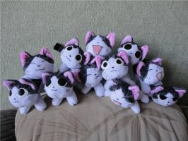 Small Chi plushies by Rens-twin