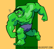 Quick Hulk by WesleyRiot