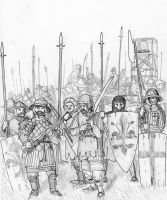 Guelphs' Last Stand at Montaperti, 1260 AD by FritzVicari