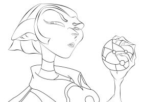 Wip  Captain Amelia By Jeffretta     Outlined by crochetamommy