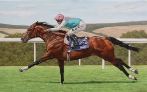 Racehorse. Oil on Canvas. by painterman33