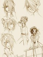 Eponine Character Sketches by HopelessStories