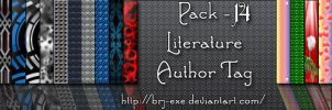 Pack 14 Literature Author Tags by BrJ-exe