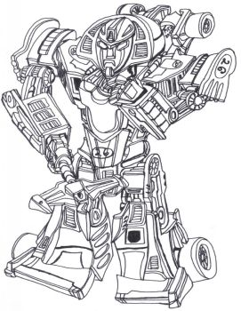 Classics Mirage Robot BW by Pierrimus