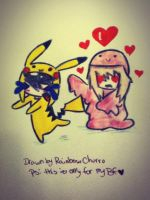 Ditto try's raping pikachu by RainbowChurro