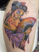 Zombie Geisha Tattoo by mxw8