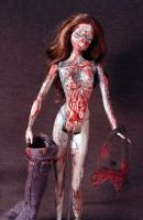 Zombie Barbie with Display Stand Anatomically by Undead-Art