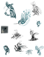 mosquite sketches by Myth-Dragon