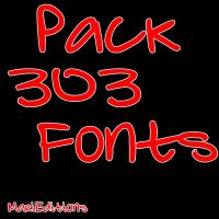 303 Fonts by MariiEditiions