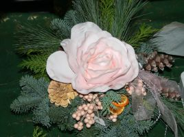 flower bouquet for christmastime by ingeline-art