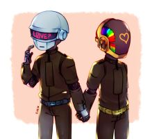 Daft Punk by Cherubun