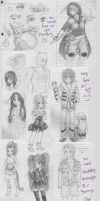 What I Doodle in Class_01 by kittymochi