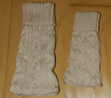 Knitted leg-warmers by asiak-91