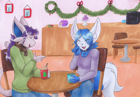 .:AtTheCafe:. by pitch-black-crow