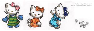 Hello Kitty - Markers by violetomega