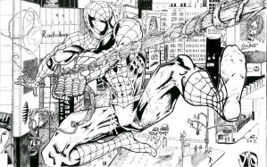 Spider-Man inked by alfred183