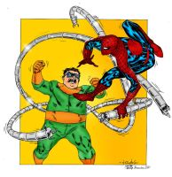Spidey vs Doc Ock - BDog color by SpiderGuile