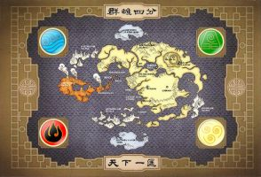 Avatar World Map Wallpaper by omarV