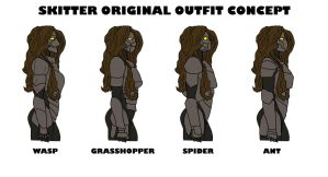 Skitter Original Outfit Concepts (Worm) by wolfofragnarok