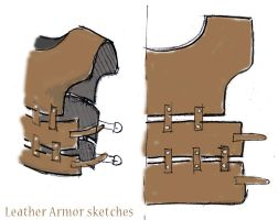 Leatherwork sketches by Meow-chi