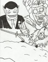 Adventure Time Battle (Inked Verion - Finished) by RSforsevers