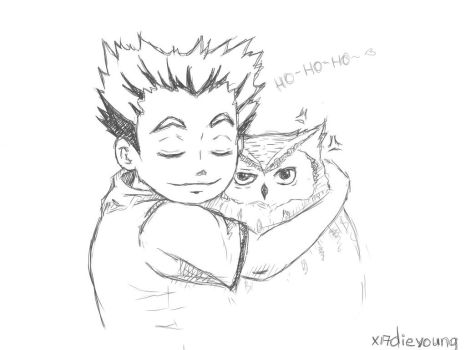 Bokuto and ho-ho-owl by x17dieyoung