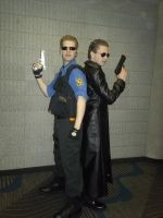 MTAC Omega 2012: Past and Present Wesker by BlueEyesMaster